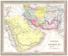1850 Mitchell Map of Persia, Arabia and Afghanistan , Persia, Arabia, and Afghanistan.