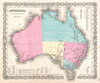 1855 Colton Map of Australia , Australia.