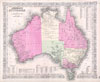 1865 Johnson Map of Australia , Johnson�s Map of Australia