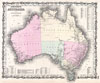 1861 Johnson and Browning Map of Australia (First Edition) , Johnson's Australia.