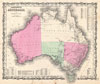 1862 Johnson Map of Australia , Johnson's Australia.