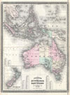 1870 Johnson Map of Australia, the East Indies, and Southeast Asia , Johnson's Australia and East Indies.