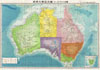 1943 World War II Japanese Aeronautical Map of Australia , Australia.