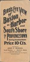 Bird's Eye View of Boston Harbor and South Shore to Provincetown Showing Steamboat Routes. - Alternate View 1 Thumbnail