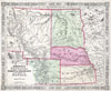 1863 Johnson's Map of Colorado, Dakota, Idaho, Nebraska & Kansas , Johnson�s Nebraska Dakota, Colorado, Idaho & Kansas.