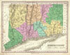 1827 Finley Map of Connecticut , Connecticut.