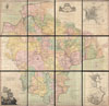 1765 Benjamin Donn Wall Map of Devonshire and Exeter, England , A Map of the County of Devon, with the City & County of Exeter.