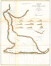 1871 U.S. Coast Survey Map or Chart of Edgartown Harbor, Martha's Vineyard, Massachusetts , Section I, Edgartown Harbor and Cotamy Bay, Mass.