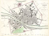 1835 S.D.U.K. City Map or Plan of Florence or Firenze, Italy , Florence. Firenze.