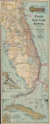 Map of the Peninsula of Florida and Adjacent Islands. - Main View Thumbnail