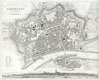 1837 S.D.U.K. City Map or Plan of Frankfort, Germany , Frankfort, Germany.