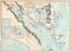 1865 Hall Map of Frobisher Bay, Baffin Island, Canada (important Arctic Exploration Map) , A Chart of Frobisher Bay and part of the West Coast of Davis Strait showing the Track and Discoveries of C. F. Hall on his Franklin Research Expeditions during the years of 1860 - 61 - 62.