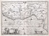 1670 Ogilby Map of West Africa ( Gold Coast, Slave Coast, Ivory Coast ) , Guinea. (Gvinea.)