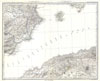 1873 Stieler's Map of Ibiza and Spanish & African Coasts , Ibiza and Spanish & African Coasts, Balearic Islands
