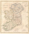 1799 Clement Cruttwell Map of Ireland , Ireland.