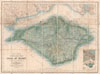 1879 Stanford Pocket Map of the Isle of Wight, England , Stanford's Tourist's Map of the Isle of Wight with popular references to Fossili Ferous Localities, Antiquities, Landing Places for Boats, &c. and an Appendix showing the Island, Southampton Water, and the Adjacent Country.