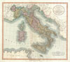 1799 Cary Map of Italy , A New Map of Italy, including The Island of Sicily, Sardinia and Corsica with the Post Roads from the latest Authorities.