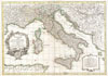 1770 Janvier Map of Italy , L'Italie divisee en ses differents etats Royaumes et Republiques.