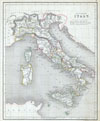 1845 Chambers Map of Ancient Italy , Ancient Italy