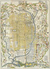 1696 Genroku 9 (early Edo) Japanese Map of Kyoto, Japan , Kyoto.