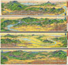 1928 Showa 3 Hiroshi Yoshida Railroad Map of Kyoto, Japan (4 Maps) , Kyoto Rail Guide.
