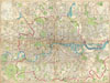 1899 Bartholomew Fire Brigade Map of London, England , London Fire Brigade Instructional Map. /  Bartholomew Plan of London.