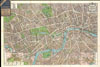 1924 Geographia Pictorial Map of London, England , Geographia Pictoria Plan of London.