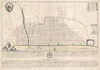 1744 Wren Map of London, England , Ichnographia urbis Londinii� (A Plan of the City of London, after the great FIRE, in the Year of Our Lord 1666.)