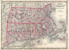 1861 Johnson Map of Massachusetts, Connecticut & Rhode Island , Johnson's Massachusetts, Connecticut, and Rhode Island.