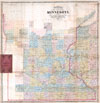 1865 Chapman Sectional Map of Minnesota ( Pocket Map ) , Chapman�s Sectional Map of the Surveyed Part of Minnesota.