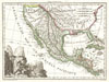 1810 Tardieu Map of Mexico, Texas and California , Mexique.