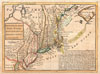 1729 Moll Map of New York, New England, and  Pennsylvania (First Postal Map of New England) , New England, New York, New Jersey and Pensilvania.