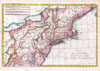 1780 Raynal and Bonne Map of Northern United States , Carte De La Partie Nord Des Etats Unis