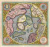 1606 Mercator Hondius Map of the Arctic (First Map of the North Pole) , Septentrionalium Terrarum descriptio.