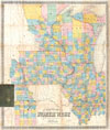 1857 Chapman Pocket Map of the North West ( Illinois, Wisconsin, Iowa ) , Chapman�s Township Map of the Northwest Compiled from the United States Surveys and other authentic Sources.
