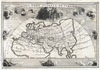 1700 Cellarius Map of Asia, Europe and Africa according to Strabo , Veteris Orbis Climata ex Strabo