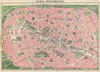 1927 Leconte and Joly Map of Paris, France w/ Monuments , Paris Monumental.