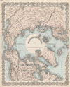 1873 Colton Map of the Arctic or North Pole , Northern Regions.