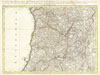 1775 Rizzi-Zannoni Map Northern Portugal - Oporto , Carte des Royaumes de Portugal et D'Algarve.