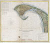 1857 U.S.C.S. Map of Provincetown Harbor, Cape Cod, Massachusetts , Provincetown Harbor Massachusetts.