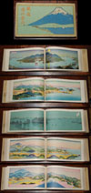 1925 Taisho 14 Japanese Panoramic Railroad Atlas , Japan Railway Guide.