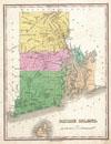 1827 Finley Map of Rhode Island , Rhode Island.