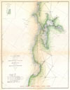 1865 U.S. Coast Survey Trianguation Map of San Fancisco Bay , Sketch J Showing the Progress of the Survey in Section No. X (middle sheet) From pt. Sal to Tomales Bay.
