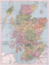 1892 Tourist's New Map of Scotland , The Tourist's New Map of Scotland