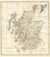 1799 Clement Cruttwell Map of Scotland , Scotland.