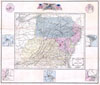 1861 Appleton's Map of the Seat of the Civil War ( Pennsylvania, Virginia, Maryland,  North Carolina , Appletons' Map of the Seat of War No. 1