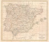 1799 Clement Cruttwell Map of Spain and Portugal , Spain and Portugal.