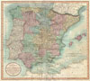 1801 Cary Map of Spain and Portugal , A New Map of Spain and Portugal Divided into their respective Kingdoms and provinces from the Latest Authorities.