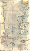 1781 Japanese Temmei 1 Manuscript Map of Taiwan and the Ryukyu Dominion , Satsuma Daimyo