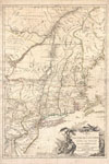 1777 Brion de La Tour Map of New York and New England (Revolutionary War) , Carte du Theatre de la Guerre entre les Anglais et Les Americains.
